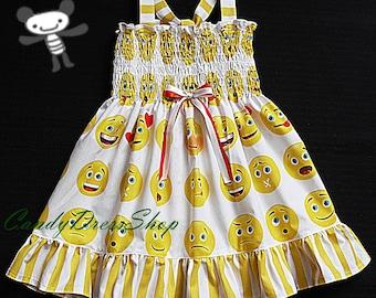da65edb5a1c Emoji printed Dress for girls