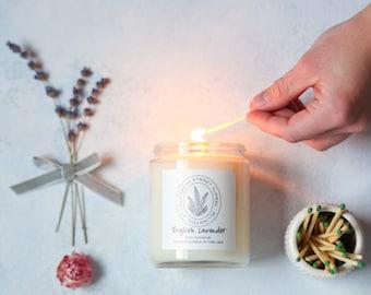 Lavender Soy Candle - 8 oz Glass Jar