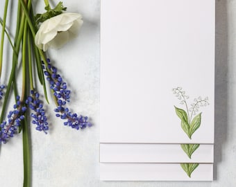 Lily of the Valley Stationery Notepad