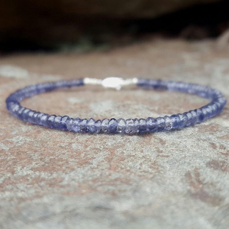 Iolite Bracelet Iolite Bracelets Beaded Bracelet Brow Chakra Bracelet Chakra Bracelets Womens Gift for Women Iolite Jewelry Beaded Bracelets