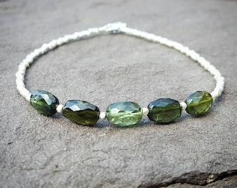 Heart Chakra Bracelet Green Tourmaline Bracelet October Birthstone Beaded Bracelets Fourth Chakra Green Chakra Bracelets Womens Gift Jewelry