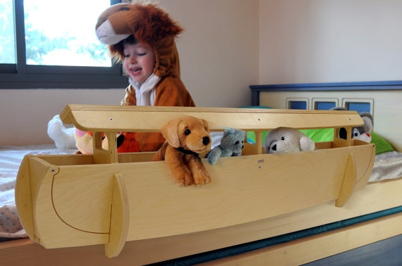 Items similar to Noah's Ark Wooden Rail and Organizer for ...
