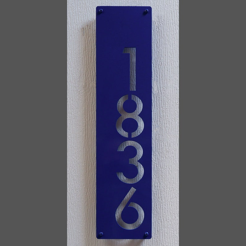 a390db70832 CUSTOM Modernist Offset Vertical House Numbers in Powder