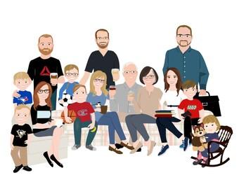 Portraits de famille 6 à 10 personne Portrait Personnel de ...