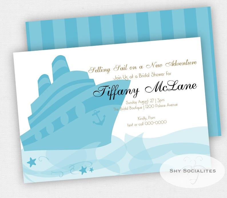 Cruise Ship Invitation Cruise Themed Bridal Shower Instant Etsy