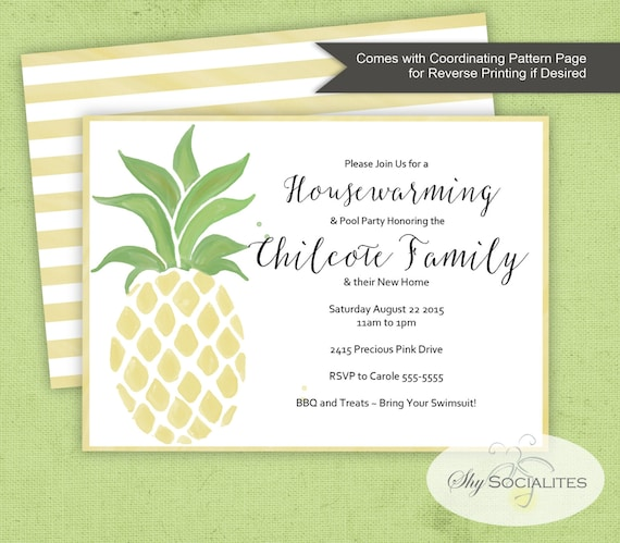 Pineapple invitation pool party pineapple bridal shower etsy image 0 filmwisefo