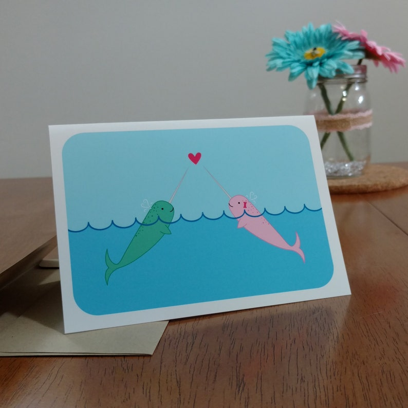 Narwhal Greeting Card image 0