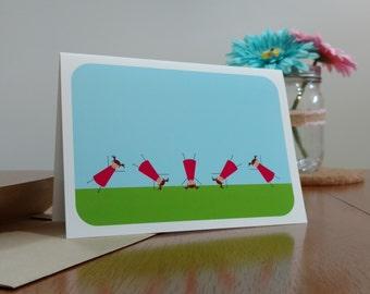 Cartwheels - Thinking of You Greeting Card