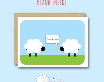 Thank Ewe Greeting Card