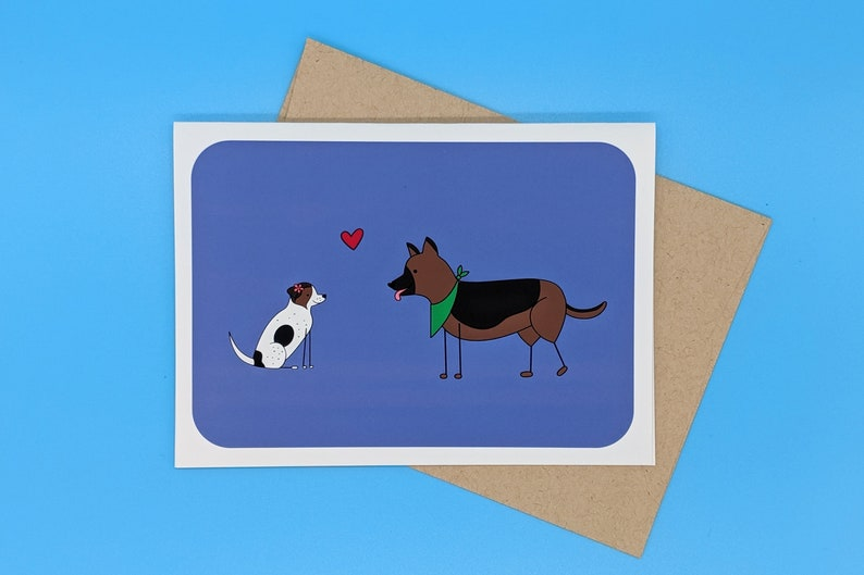 Puppy Love Dog Greeting Card image 0