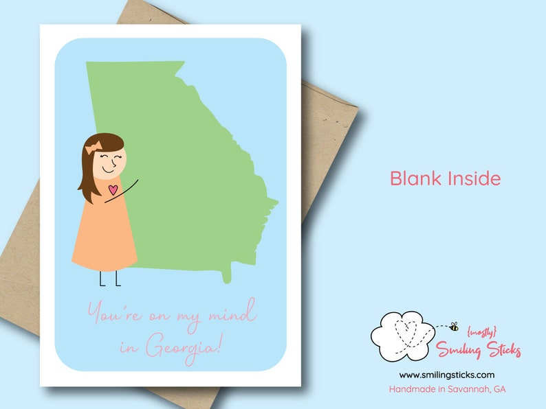 You're on my mind in Georgia Greeting Card image 0