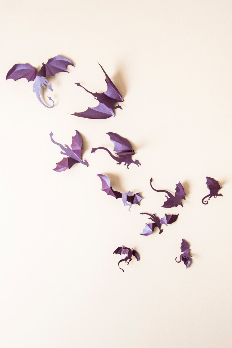 Game of Thrones inspired 3D Dragon Wall Art: dragon image 0