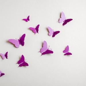 3d Wall Butterflies 3d Butterfly Wall Art For Modern Home Etsy