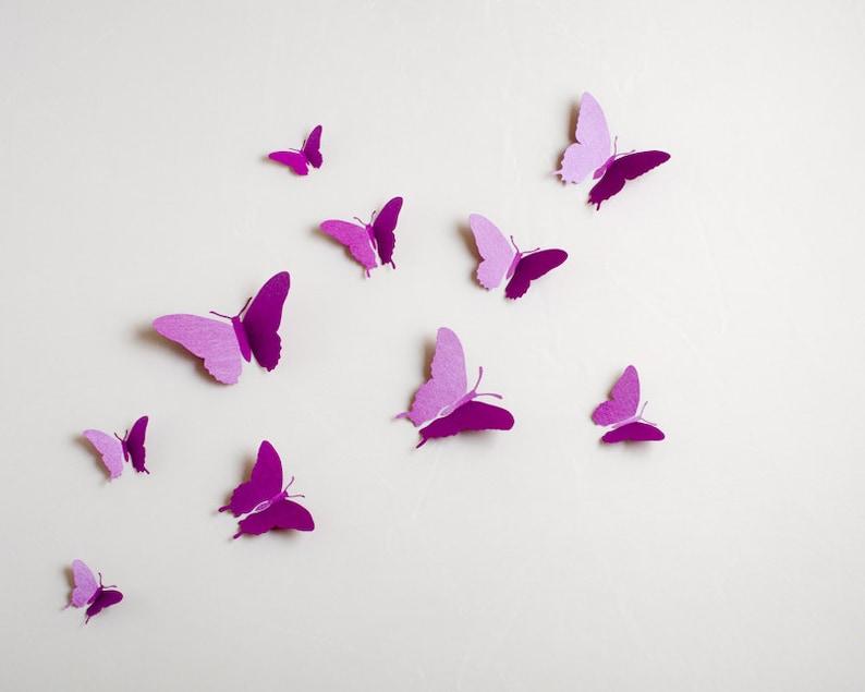 3D Wand Schmetterlinge: 3d Schmetterling Wand Kunst | Etsy