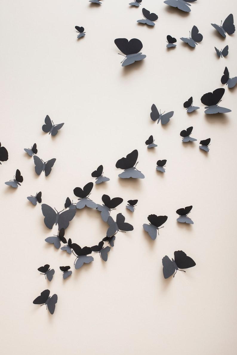 3D Wall Butterflies: 3D butterfly wall decals paper image 0