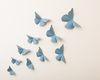 3D Wall Butterflies: Wedgewood Butterfly Silhouettes for Girls Room, Nursery, and Home Decor