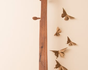 3D Wall Art Bronze Butterflies Apartment Wall Decor, College Dorm Girl