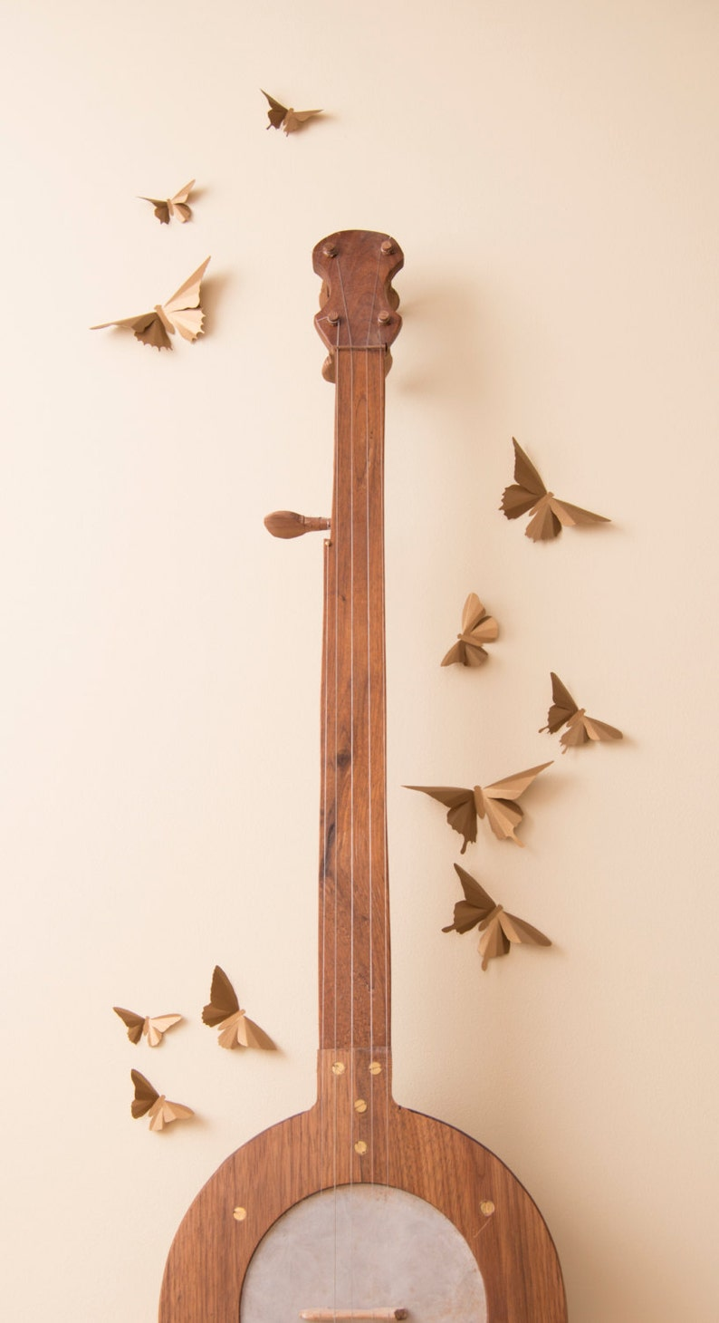 3D Wall Art Bronze Butterflies Apartment Wall Decor College image 0