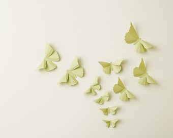 3D Wall Butterflies: Anise Butterfly Silhouettes for Girls Room, Nursery, and Home Art Decor