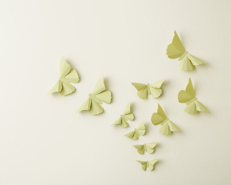 3D Wall Butterflies: Anise Butterfly Silhouettes for Girls image 1