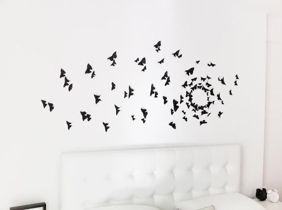 Gossip Girl Wall Art Black Butterfly Wall Decor 3D Wall | Etsy
