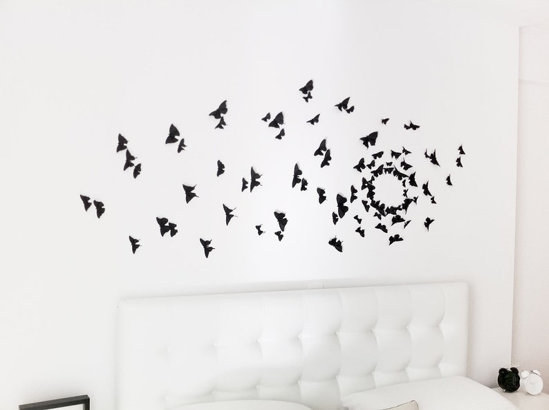 0049a604dd Gossip Girl Wall Art Black Butterfly Wall Decor 3D Wall | Etsy