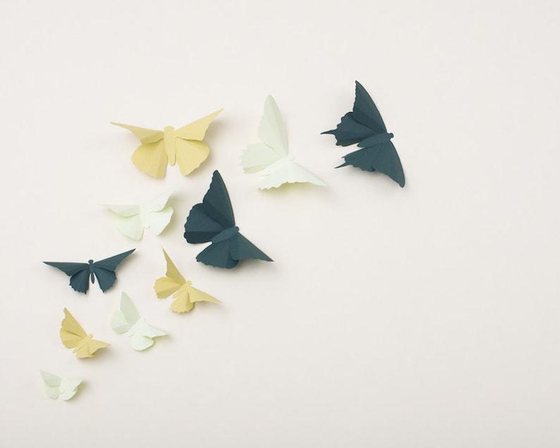 3D Wall Butterflies: Butterfly Wall Art for Nursery image 1