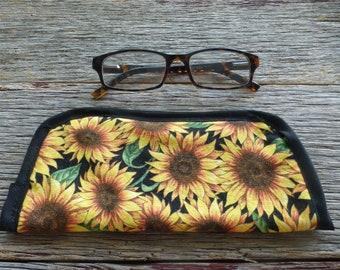 Sunflower Fabric Eyeglass Case