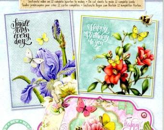 36626 block images studio light 3d die cut vintage flowers
