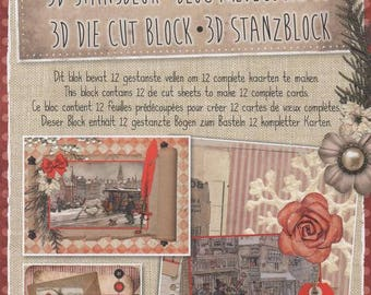 34646 block images 3d die cut vintage Christmas