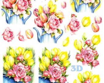 3d photo sheet to cut old roses roses