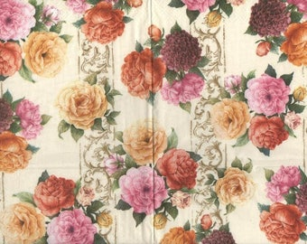 3265 - 1 old English roses paper towel