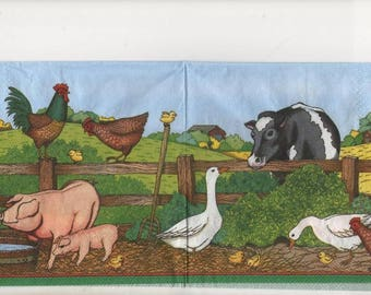 3159 - 4 napkins paper country life