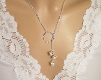 Lily of the Valley Sterling Silver Eternity Circle Lariat