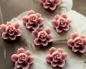 10 PCS Wholesale Beautiful Colorful 6-petal Flower Resin Cabochon - -12mm(CAB-I -26)