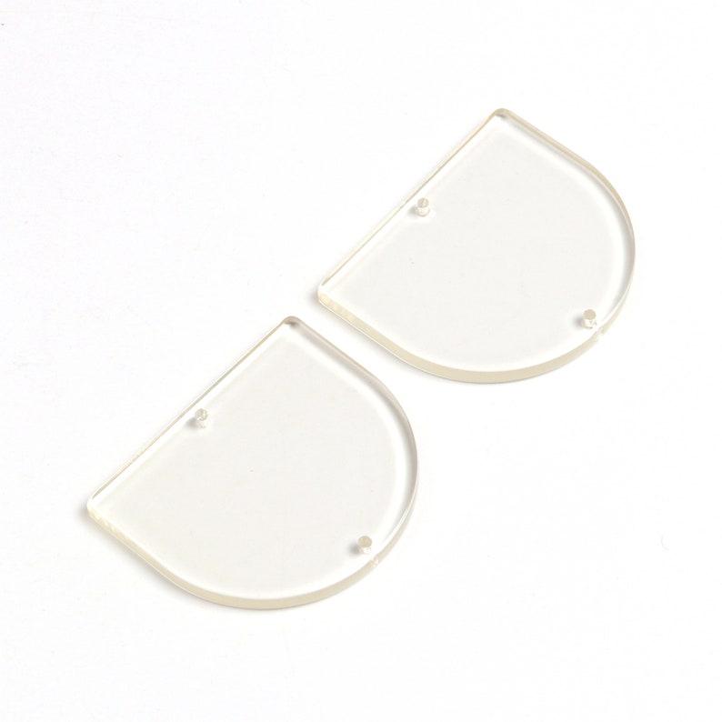 Acrylic Earrings Charms,Semicircle Earring Charms,Acrylic Beads Charms,D Shaped Pendants,Acrylic Earring Parts,2 Holes 30x35mm A223-ACE242E
