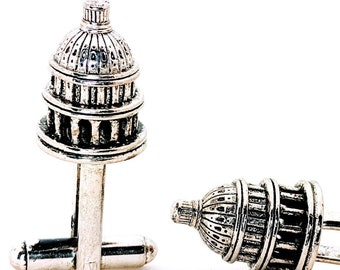 Gold US Capital Building Cuff Links