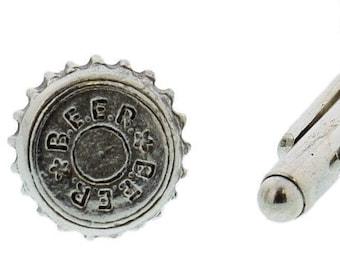 Beer Bottle Cap Cuff Links