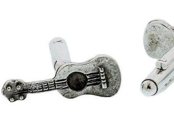 Silver Guitar CuffLinks