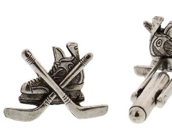 Silver Hockey Skate Cuff Links
