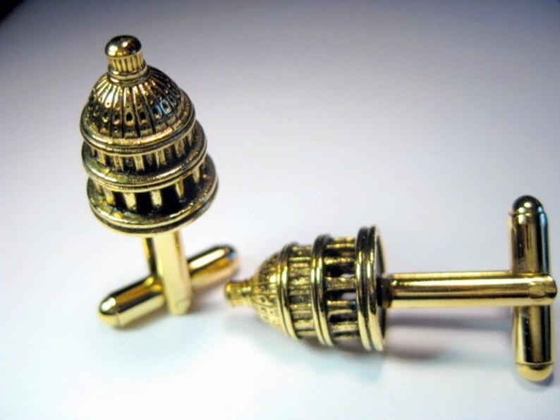 Gold US Capital Building Cuff Links image 0