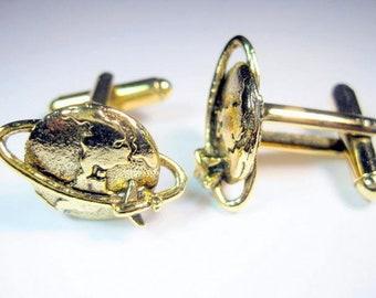 Gold Globe Cuff Links
