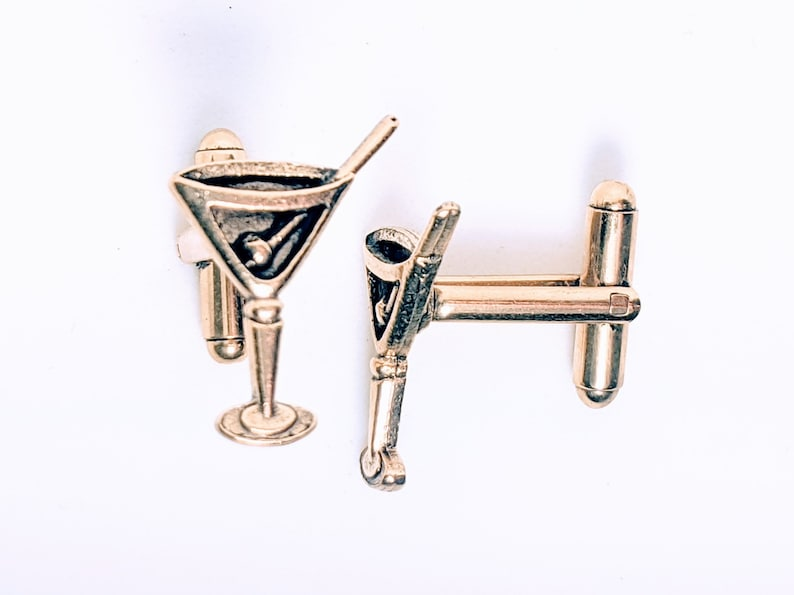 Martini Glass Cuff Links image 0
