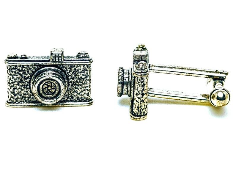 Silver Camera Cuff Links image 0