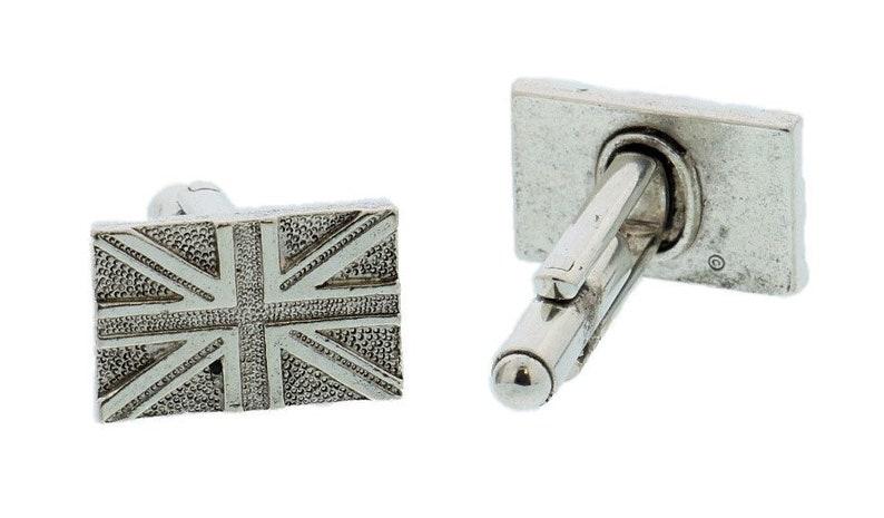 Gold British Flag Cuff Links image 0