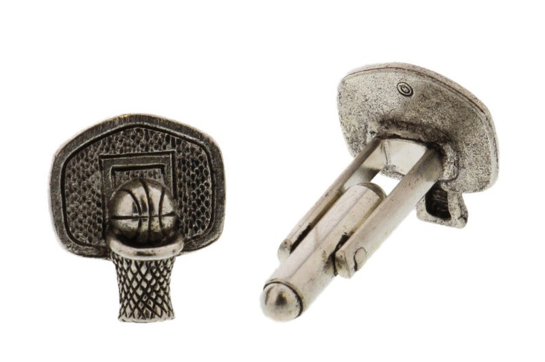 Basketball Hoop Cuff Links image 0