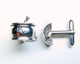 Silver Pharmacy RX Cuff Links