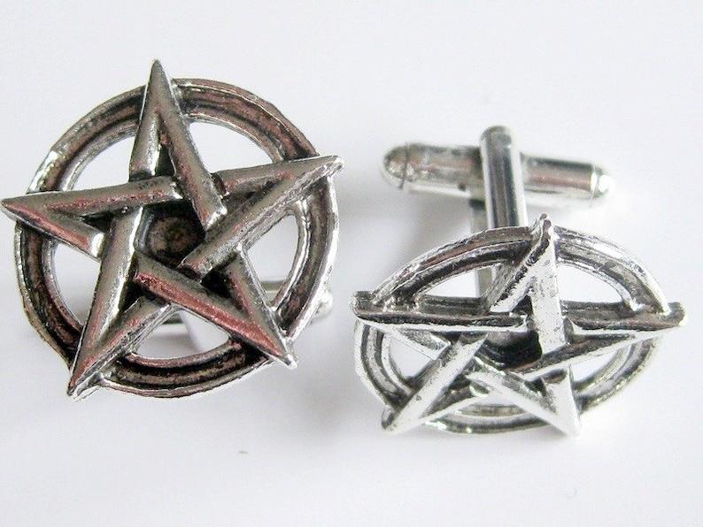Pentagram Cuff Links image 0