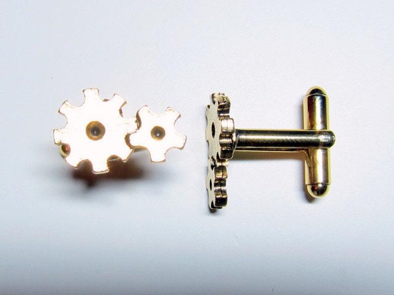 Gold Gear Cuff Links image 0