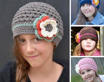 "Crochet Pattern, Crochet Hat Pattern, Crochet Pattern Children, Crochet Baby Hat Pattern, ""The Original Buttercup Beanie"" pattern #101"